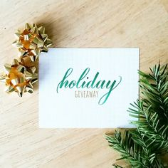 What an incredible response to my holiday giveaway series!  If you have yet to enter check back to the previous posts to see each of them amazing prizes you could win. From calligraphy supplies to prints to mugs there is something for everyone!  Now tell me: What is your weekend plan? Holiday shopping? Sending out greeting cards? Relaxin' and Netflixin'? Whatever it is enjoy and have fun!  Pen: @pentelofamerica sign pen with brush tip by piecescalligraphy