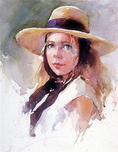 watercolor portrait by Janet Rogers