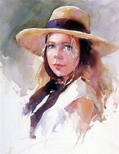 watercolor portrait by Janet Rogers
