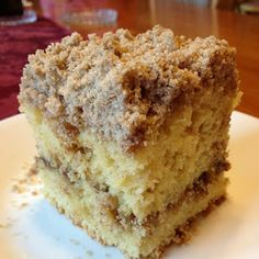 Extra Crumb Cinnamon Struesel Sour Cream Coffee Cake…this recipe is a mouthful. A mouthful meaning it takes a really long time to say, and that you will keep your mouth full as soon as this gets out of the oven. So, I have been trying to eat he Just Desserts, Delicious Desserts, Yummy Food, Baking Recipes, Cake Recipes, Dessert Recipes, Sour Milk Recipes, Frosting Recipes, Food Cakes