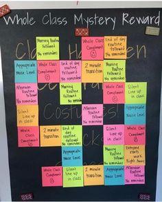 54 teacher hacks for a successful classroom decoration 10 Classroom Rewards, Classroom Behavior Management, 5th Grade Classroom, Kindergarten Classroom, Future Classroom, Classroom Organization, Classroom Design, Classroom Ideas, Behavior Goals