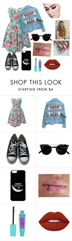 """""""❤️"""" by whysorude on Polyvore featuring mode, Converse et Lime Crime"""