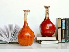Ceramic vases / Вазы ручной работы. Ярмарка Мастеров - ручная работа. Купить Керамическая интерьерная ваза бутыль Жизнь на Марсе. Handmade.