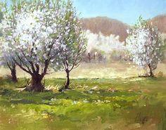 Apple Orchard In Bloom - Peggy Immel - Sorrel Sky Gallery, Durango & Santa Fe