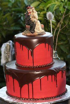 Pastel de boda con inspiración en Halloween