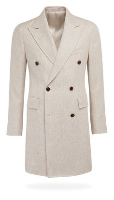 Light Brown Double Breasted Coat J430i | Suitsupply Online Store