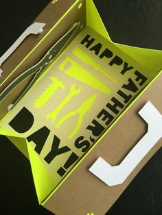 Happy Father's Day - Toolbox Card 3D