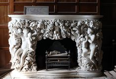 Inside the forgotten mansion: Edwardian house opens its doors to the public for the first time in 20 years Belton House, Harewood House, Chatsworth House, Fireplace Mantle, Fireplace Design, Houghton Hall, Blue Drawings, Co Design, Ideas