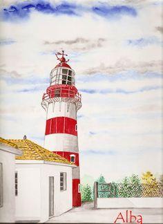 Light House Isla Arvoredo Watercolor