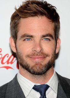 Chris Pine - bright blue eyes