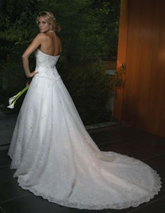 This was my wedding dress.  The picture doesn't do it full justice though.  It's gorgeous in person.