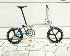 Road Bikes, Cycling Bikes, Bmx, Bicicleta Brompton, Titanium Bike, Folding Bicycle, Bike Accessories, Bike Stuff, Bicycling