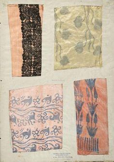 Epreuves d'impression de la fabrique de tissus de Mariano Fortuny. Fondazione Musei Civici Veneziani.