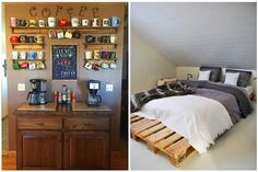 The Most Beautiful Decoration Suggestions Made Of Wooden Pallets For Those Who Want To Have A More Style And Natural House - The Woodworking Enthusiasts Woodworking Enthusiasts, Wooden Pallets, Liquor Cabinet, Most Beautiful, Storage, Beautiful Decoration, Table, House, Wood Working