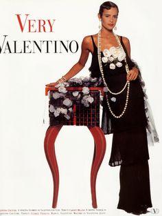 Valentino HC Spring 1992 | with Nadege