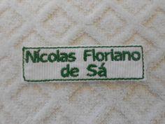 Etiquetas bordadas adesivadas(termocolante) R$ 2,50