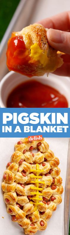 Pigskin In A Blanket Will Disappear Before Kickoff