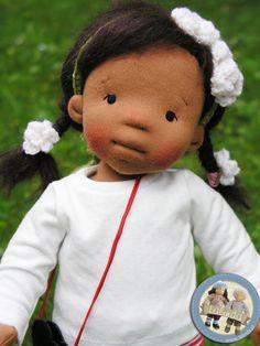 Kelly - natural fiber art doll