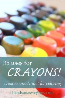 Great ways to use the end-of-year crayon stubs the kids bring home!