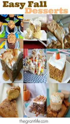 Easy Fall Dessert Ideas.  Pumpkin, apple, and snickerdoodle, oh my!  #fall #baking #desserts