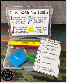 Teach Your Child To Read Fast - I have a list a mile long of new ideas that I cant wait to try out for next year. - TEACH YOUR CHILD TO READ and Enable Your Child to Become a Fast and Fluent Reader! Reading Centers, Reading Workshop, Reading Skills, Guided Reading, Teaching Reading, Close Reading Strategies, Cloze Reading, Close Reading Activities, Learning