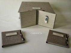 Carolicia Cartonaje: Caja para álbum digital y porta usb