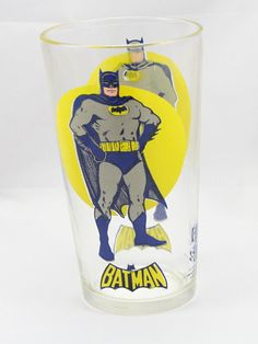1976 Batman Promo Glass by cebcollectibles on Etsy, $35.00