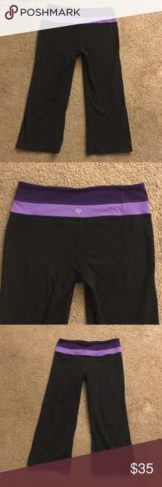 Lululemon Athletica Capri Leggings Used still in good condition, no holes faded. Normal signs of wear lululemon athletica Pants Capris