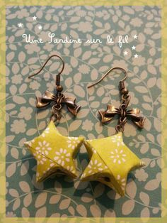 Origami for Everyone – From Beginner to Advanced – DIY Fan Origami And Quilling, Paper Crafts Origami, Origami Jewelry, Paper Jewelry, Christmas Origami, Paper Earrings, Coin Jewelry, Jewellery, Japanese Paper