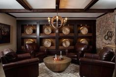 Wine vaults and wine-tasting rooms are common in high-end homes, but bourbon rooms are a rising star... - Ashton Woods