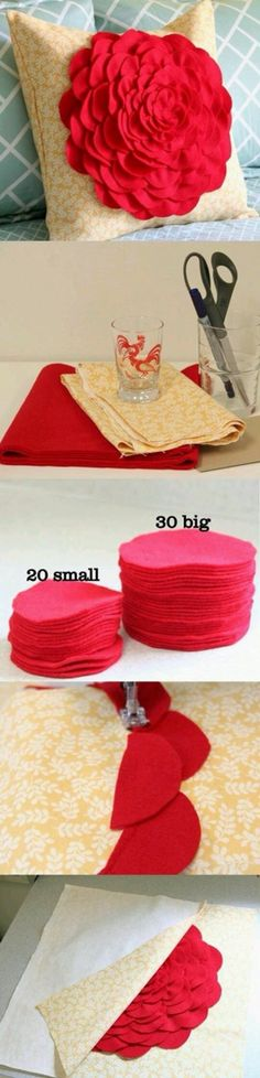 7 Valentine's Day Craft Ideas Will Inspire You This DIY Pillow Covers.Top 7 Valentine's Day Craft Ideas Will Inspire You.Top 7 Valentine's Day Craft Ideas Will Inspire You. Diy Projects To Try, Craft Projects, Craft Ideas, Craft Tutorials, Decor Ideas, Felt Crafts, Diy Crafts, Felt Diy, Sewing Crafts
