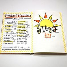 I'm kind of digging my bright and happy yellow and orange June bullet journal theme.