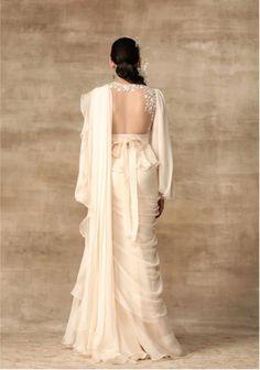 The Khloe Sari – Studio Indian Gowns Dresses, Indian Fashion Dresses, Indian Designer Outfits, Designer Dresses, Saree Wearing Styles, Saree Styles, Indian Wedding Outfits, Bridal Outfits, Wedding Dress