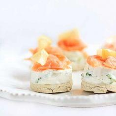 Mini Cheesecakes with Smoked Salmon