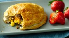 Say good morning with a breakfast pie!  Grands!® biscuits loaded with eggs, cheese and sausage can really wake up breakfast.