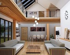 glamping unit mobile home model on Behance House 3d Model, Mobile Home, Prefab, Apartment Design, Living Room Interior, Glamping, Tiny House, Modern Living, House Design