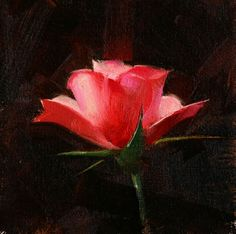 Rose Study 2017 03, painting by artist Qiang Huang