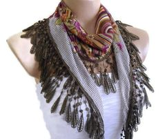 #Trendscarves #uniquegift #fashionscarf #necklacescarf #womenaccessories #Turkishscarf #wedding #Bride #Lacescarf