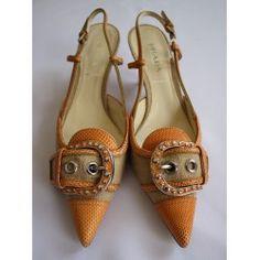 Women Shoes Prada Orange