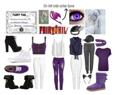 """""""Celeste Dragonfly (Fairytail oc)"""" by forever12-i on Polyvore featuring WearAll, H&M, Topshop, Chicnova Fashion, Chicwish, Converse, Vans, UGG Australia, Velvet by Graham & Spencer and NOVICA"""