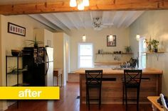 Kitchen Before & After: A Bedroom Becomes a New Kitchen for $6,000
