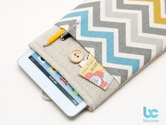 BluCase iPad Mini Case with Pocket and Button Closure