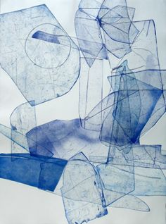 Eben Goff - Batholith Etching, Monoprint #B-10 | From a unique collection of abstract prints at http://www.1stdibs.com/art/prints-works-on-paper/abstract-prints-works-on-paper/