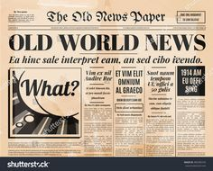 Old Newspaper Stock Images, Royalty-Free Images & Vectors Old Newspaper Template. Old Blank Newspaper Template Newspaper Template Rel Old Blank Newspaper Template Old Newspaper Vintage Design Retro Background Vector Template With Text And Images Old Ne Free Label Templates, Free Business Card Templates, Vintage Newspaper, Newspaper Design, Newspaper Layout, Newspaper Article, Newspaper Template Word, Retro Background, Word Free