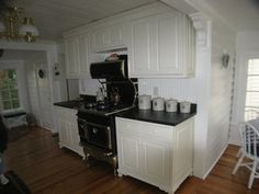 Kitchen Remodel with White Cabinets and Soapstone Tops