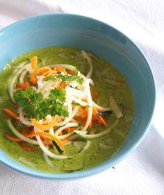 Zucchini-Karotten-Nudeln mit Bärlauchsauce - Rezept