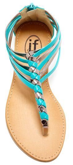 BuccoCarrini Woven Strappy Thong Wedge Sandal ♥✤ | Keep the Glamour | BeStayBeautiful