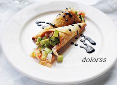 aperitivo, entrante, aguacate, cucuruchos de pasta, dolorss, blogdecuina, gastronomía,  fotografía.