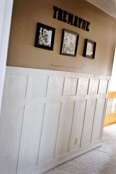 Mandi from Tidbits From The Tremaynes has a fast and inexpensive way to add the look of wainscoting to your walls.