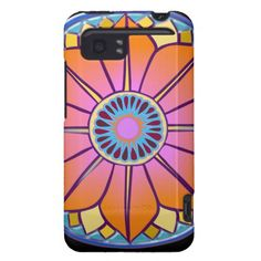 orange mandala HTC vivid case